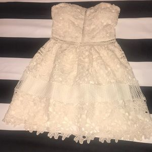 Romeo and Juliet Couture crochet strapless dress